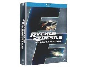 Rychle a zběsile (Blu-ray kolekce 1-7, 7x Blu-ray, 1x DVD)