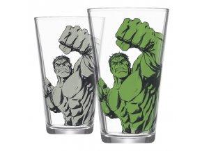 Měnící se sklenice Marvel: Hulk (400 ml)