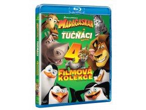 Madagaskar 1-3 + Tučňáci z Madagaskaru (Blu-ray kolekce, 4x Blu-ray))