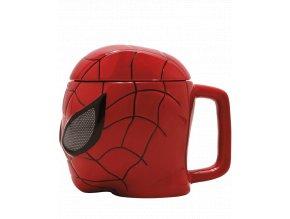 3D Hrnek Spider-Man - ve tvaru masky (350 ml)