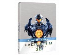 Pacific Rim: Povstání (Blu-ray 3D + Blu-ray 2D, Steelbook)