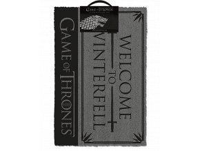 Rohožka Hra o trůny: Vítejte v Zimohradu (60 x 40 cm)
