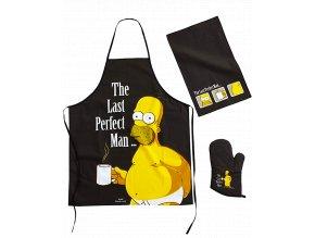 Kuchyňská sada Simpsonovi: Homer (zástěra, chňapka, útěrka)