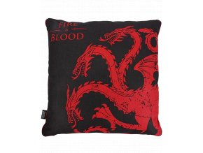 Polštářek hra o trůny (Targaryen, 46 x 46 cm)