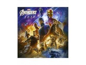 Nástěnný kalendář Marvel: Avengers (rok 2020, 30x30/60 cm)