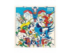 Nástěnný kalendář DC Comics (rok 2020, 30x30/60 cm)