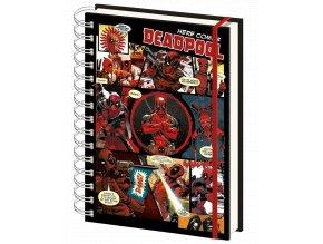 Zápisník Marvel: Deadpool (A5, kroužková vazba, 15 x 21 cm)