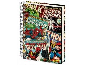 Zápisník Marvel: Komiksová koláž (A5, kroužková vazba)