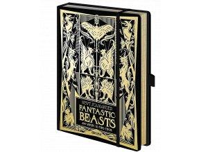 Zápisník Fantastická zvířata a kde je najít 2 (A5, pevná vazba)