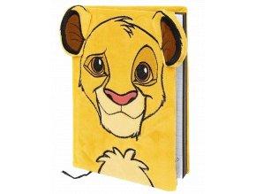Zápisník Lví král: Simba (A5, desky s plyšovým potahem)
