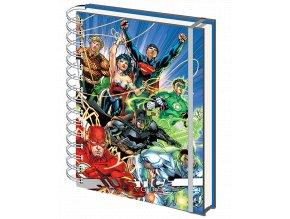 Zápisník DC Comics: Liga spravedlnosti (A5, kroužková vazba)
