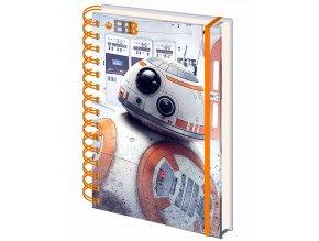 Zápisník Star Wars: BB-8 (A5, kroužková vazba, linkovaný)