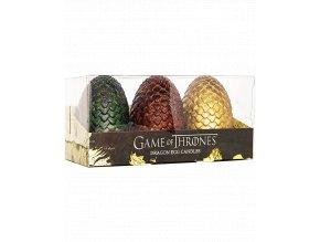 Sada svíček Hra o trůny (Game of Thrones): Dračí vejce (3 kusy)