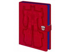 Zápisník Transformers: Optimus Prime (A5, linkovaný, napodobenina kůže)