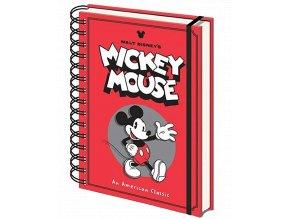 Zápisník Disney: Mickey Mouse (A5, linkovaný, kroužková vazba)