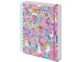 Zápisník Můj malý Pony: Retro (A5, linkovaný, kroužková vazba)