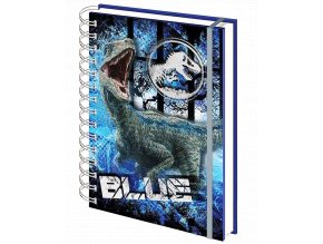 Zápisník Jurský park: Blue (A5, kroužková vazba, linkovaný, desky se 3D efektem)