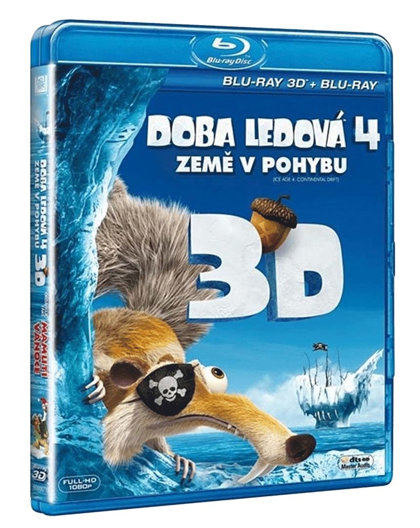 Doba ledová 4: Země v pohybu (2x Blu-ray 3D + Blu-ray 2D)