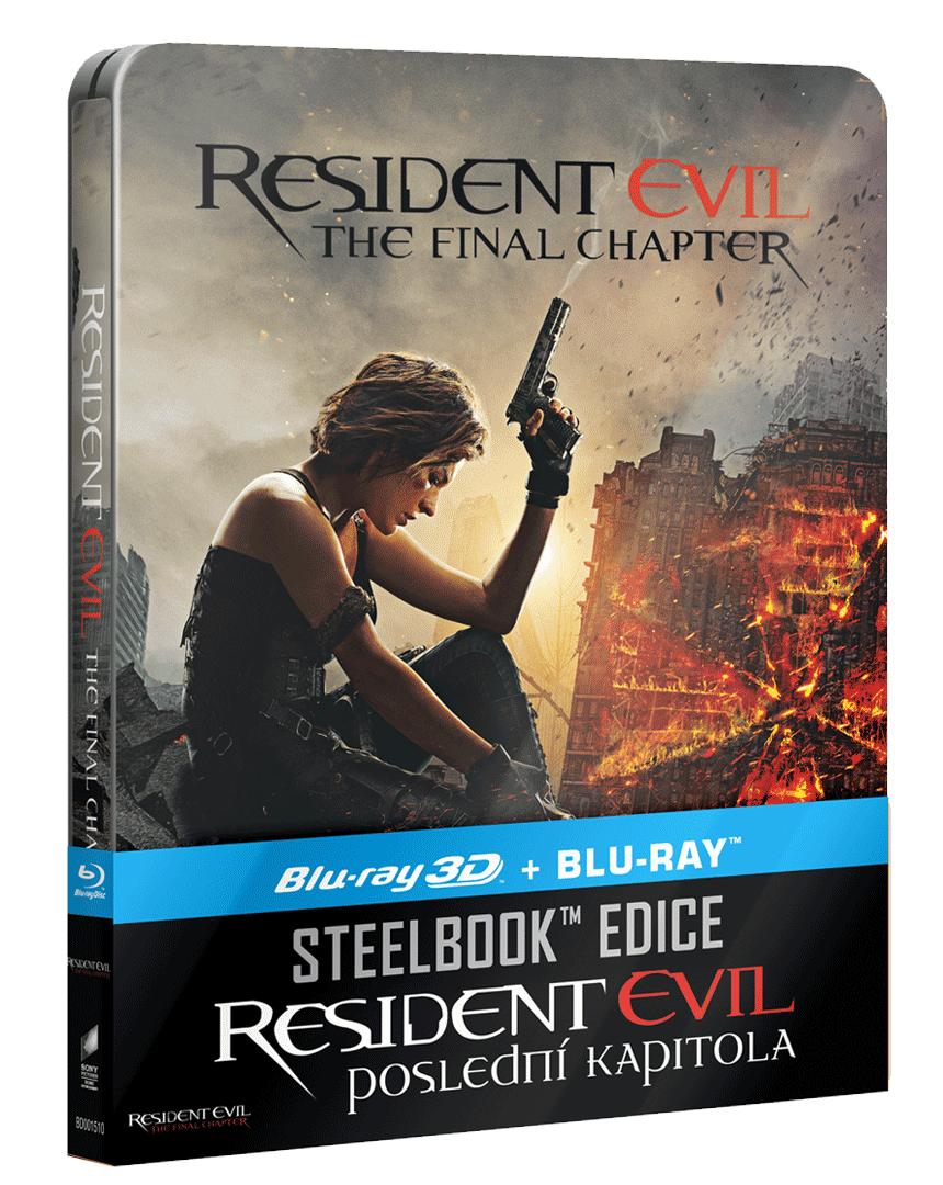 Resident Evil: Poslední kapitola (Blu-ray 3D + Blu-ray, Steelbook)