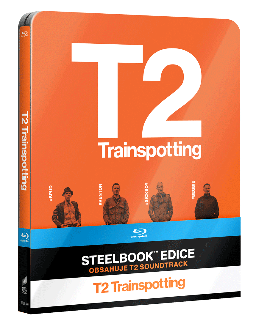 T2 Trainspotting (Blu-ray + CD se Soundtrackem, Steelbook)
