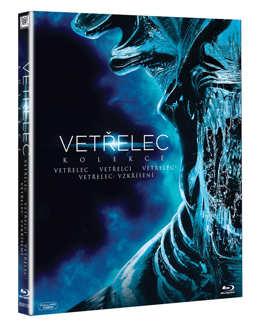 Kolekce Vetřelec 1 - 4 (4x Blu-ray + 2x bonusový disk)