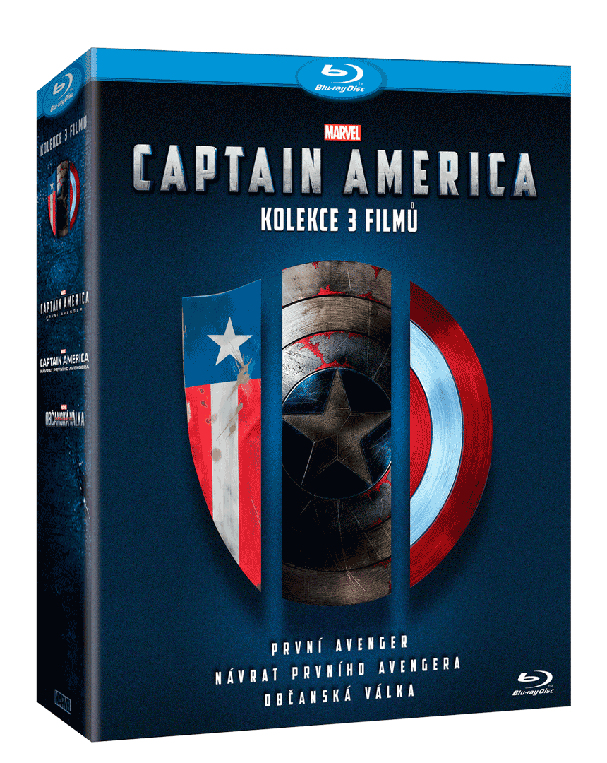 Captain America 1.-3. (3x Blu-ray)