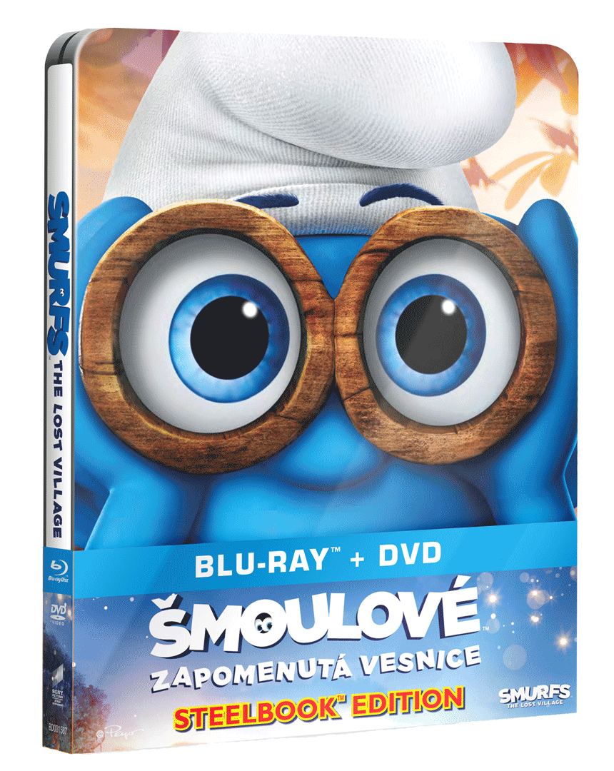 Šmoulové: Zapomenutá vesnice (Blu-ray + DVD, Steelbook)