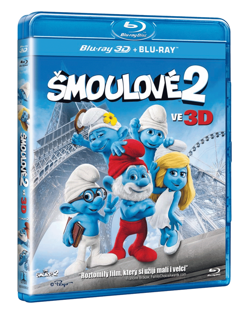 Šmoulové 2 (Blu-ray 3D + Blu-ray 2D)