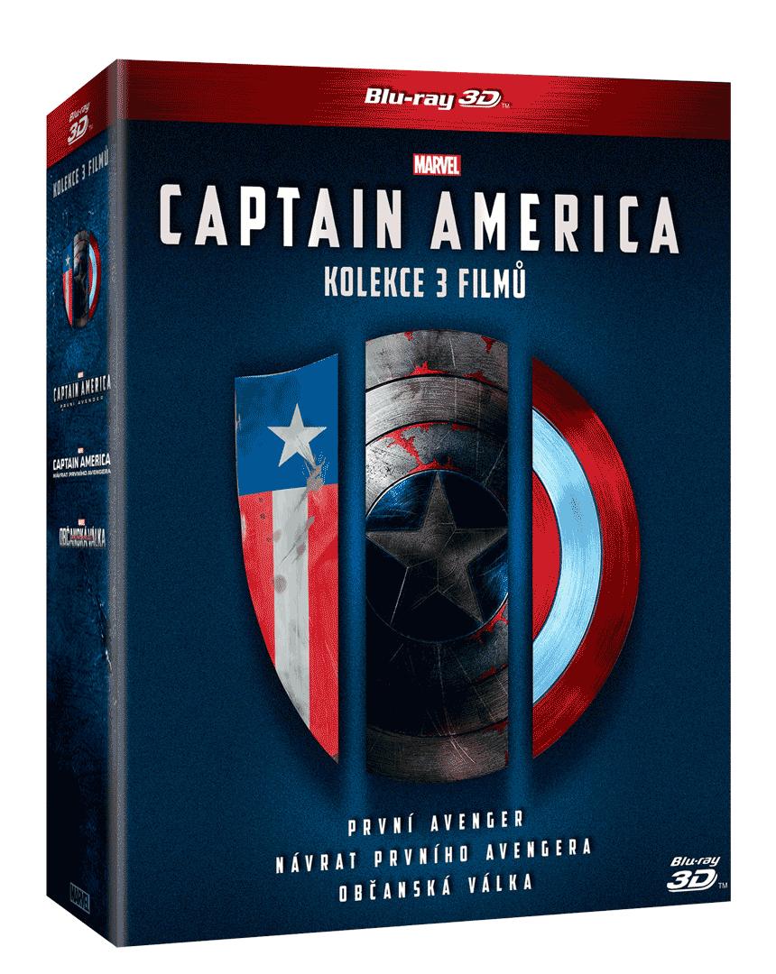 Captain America 1.-3. (3x Blu-ray 3D, 3x Blu-ray 2D)