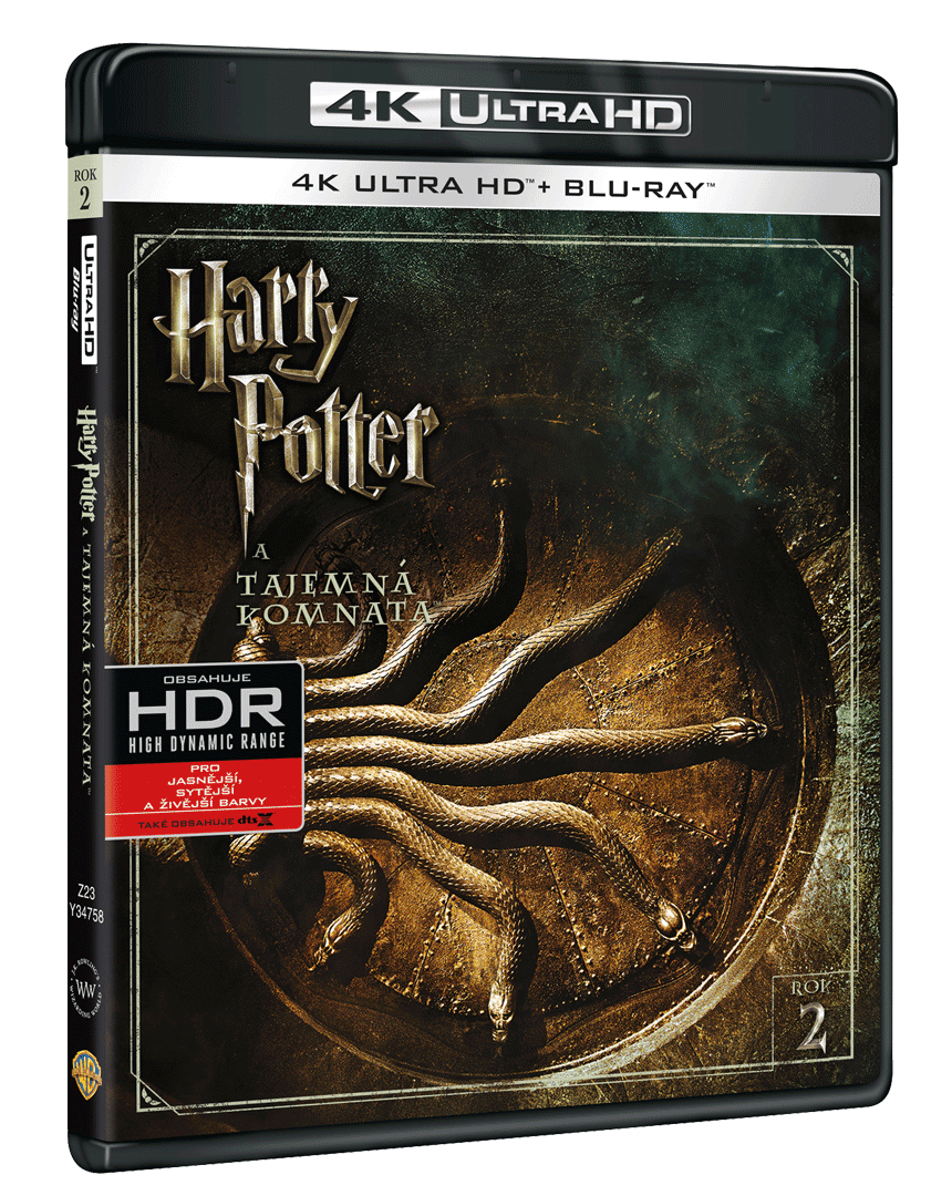 Harry Potter a Tajemná komnata (4k Ultra HD Blu-ray + Blu-ray)