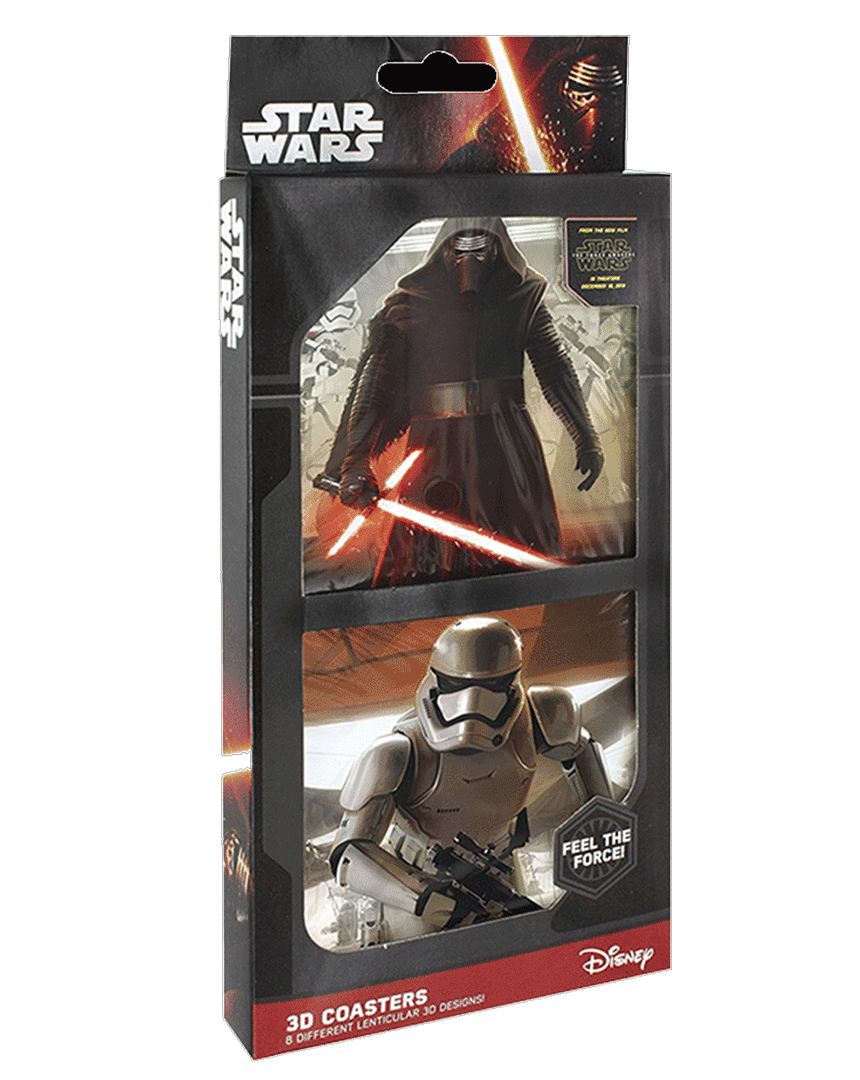 Podtácky Star Wars se 3D efekem (8 kusů)