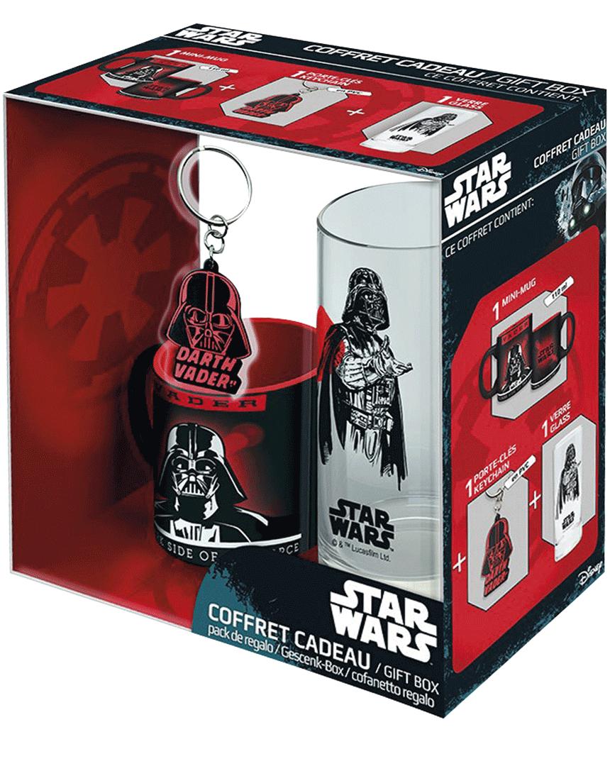 Dárkový set Star Wars - Darth Vader (Hrneček + Klíčenka + Sklenice)