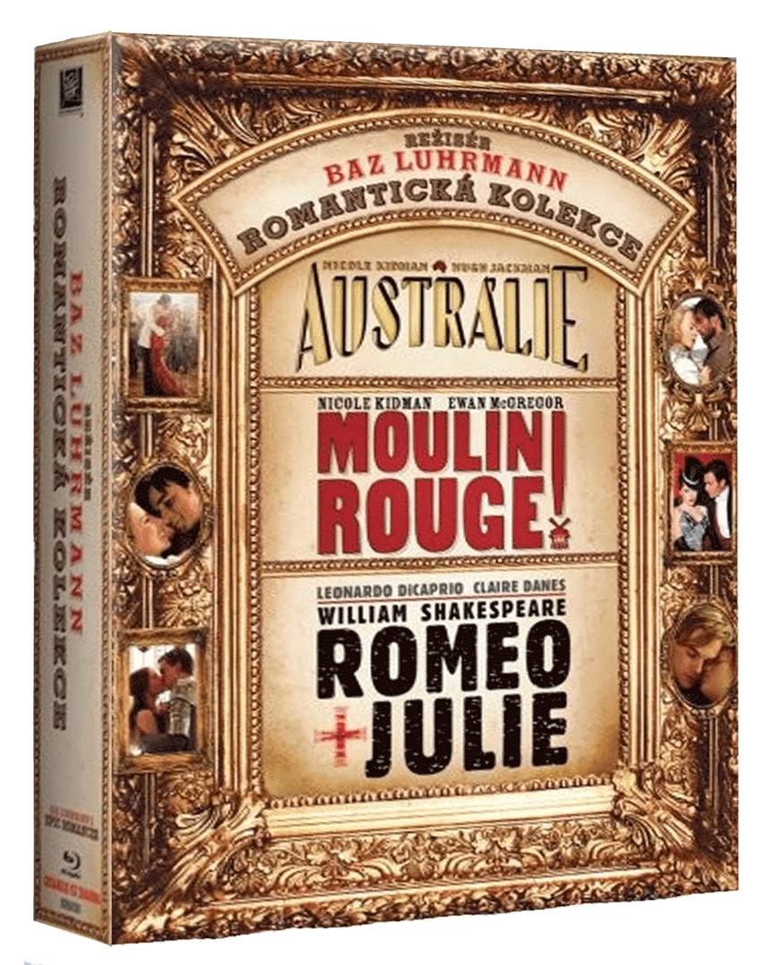 Baz Luhrmann kolekce (Austrálie, Moulin Rouge, Romeo a Julie, 3x Blu-ray + CD)