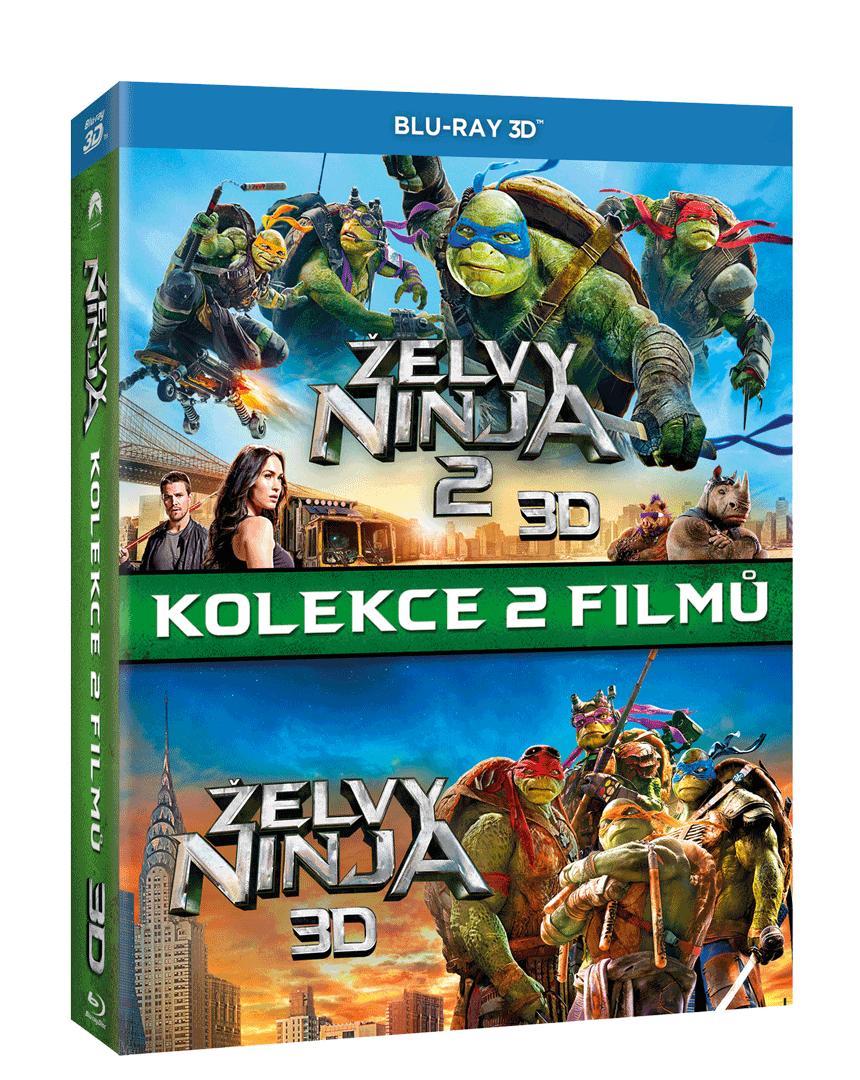 Želvy Ninja 1 a 2 (Blu-ray 3D + 2D kolekce)