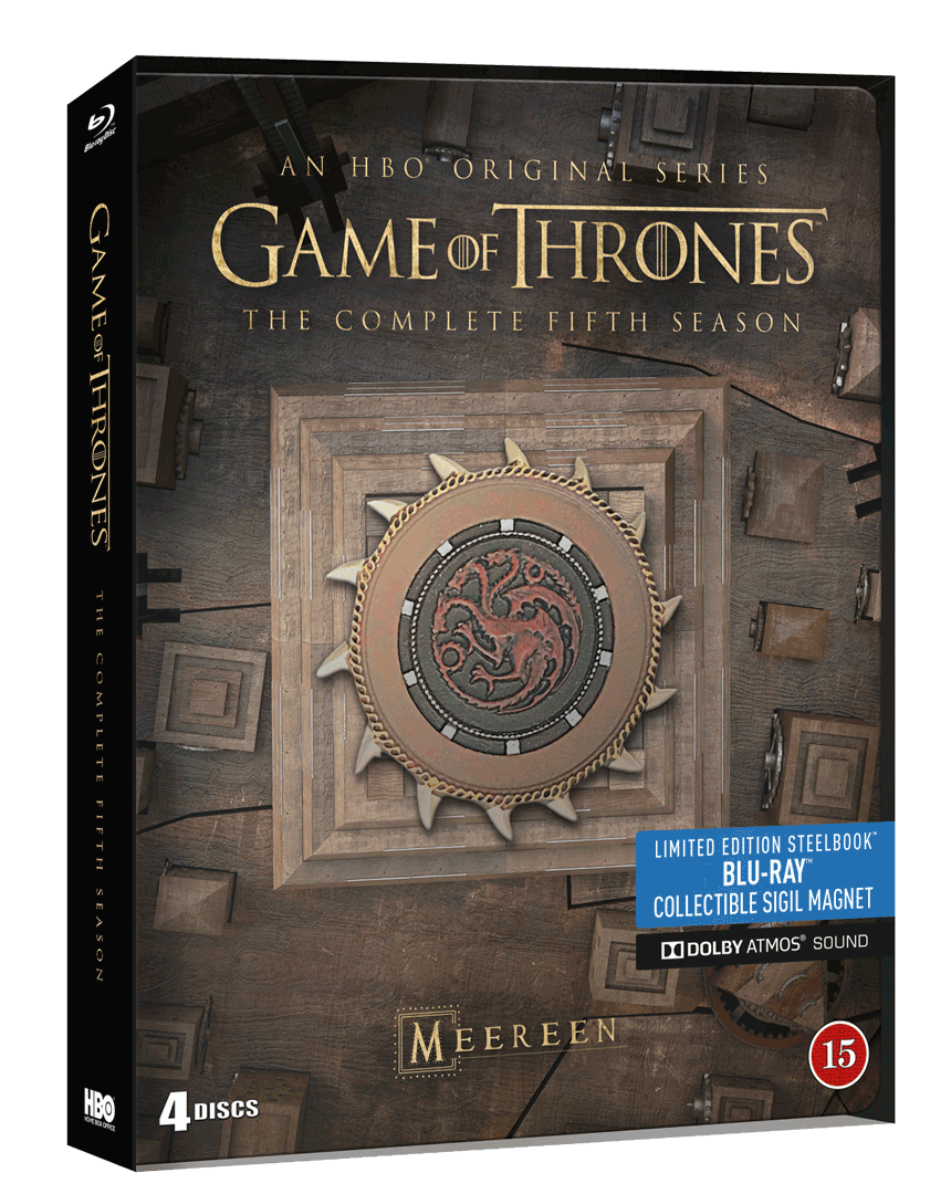 Hra o trůny - 5.sezóna (4x Blu-ray, Steelbook)