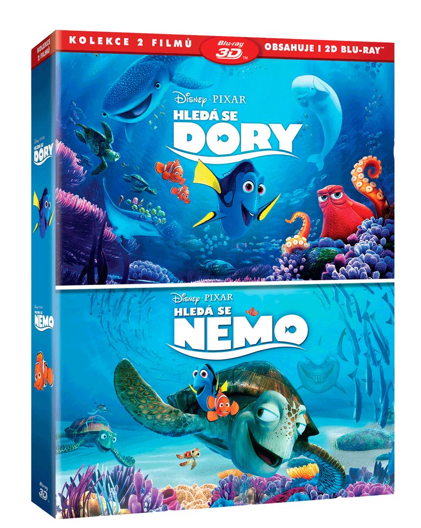 Hledá se Dory + Hledá se Nemo (2x Blu-ray 3D + 2x Blu-ray)