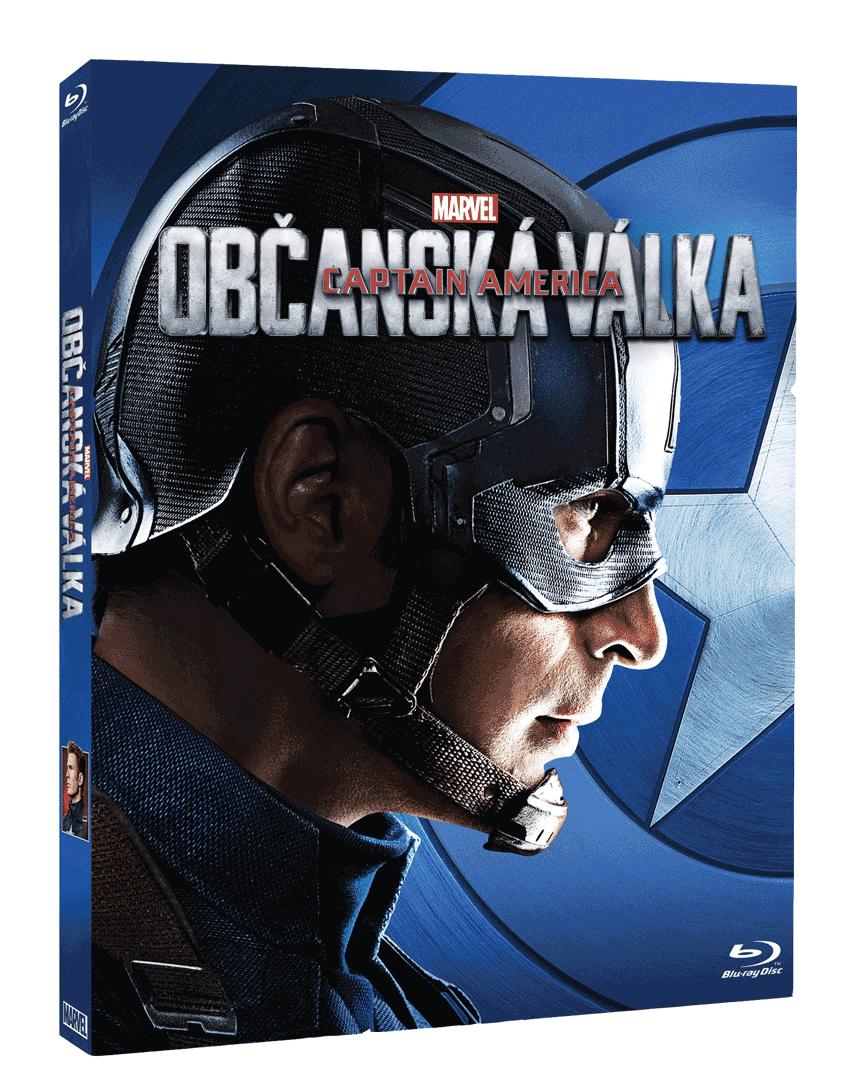 Captain America: Občanská válka (Blu-ray, Captain America sleeve)