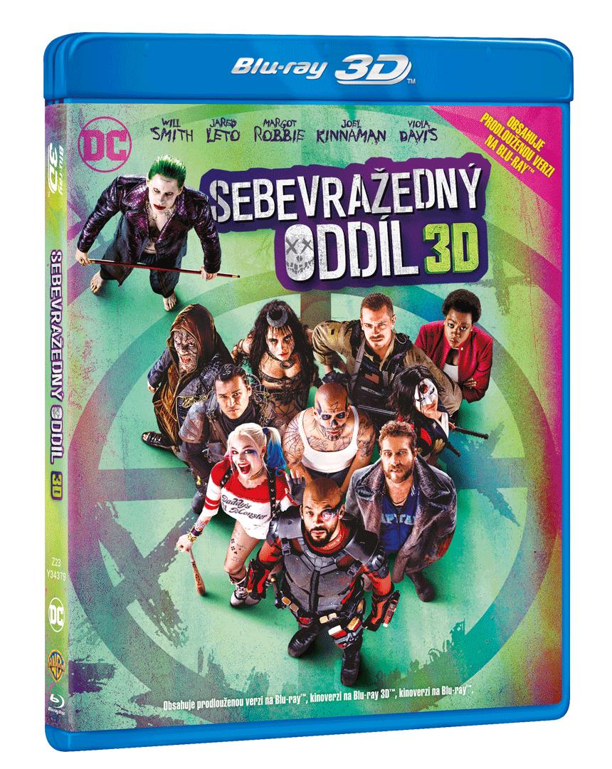 Sebevražedný oddíl (1x Blu-ray 3D, 2x Blu-ray, Prodloužená i původní verze)