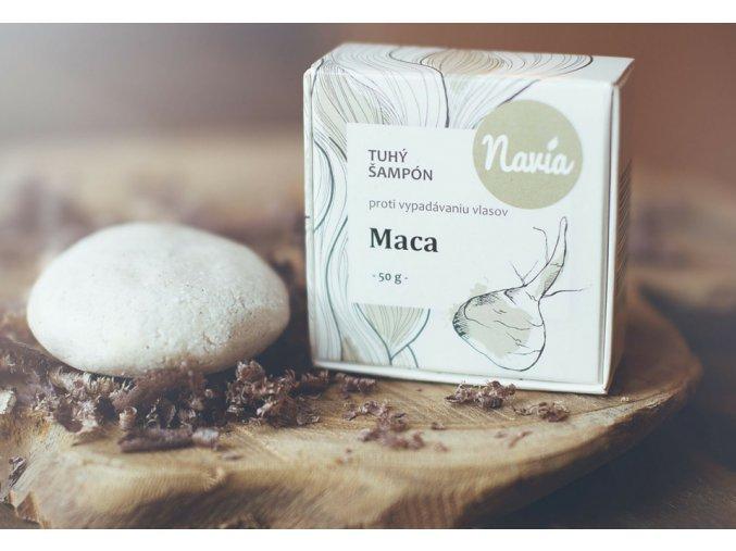 Kvitok (dříve Navia): Tuhý šampon proti vypadávání vlasů Maca - recenze od Rozmarné děvče