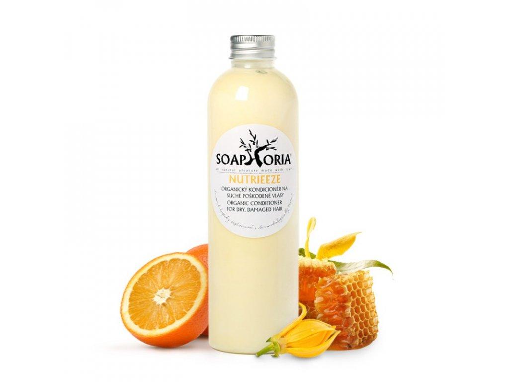 nutrieeze organicky tekuty kondicioner na na suche a poskodene vlasy