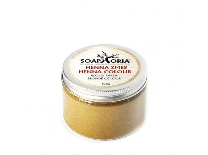 soaphoria bylinna barvici smes na vlasy z henny blond