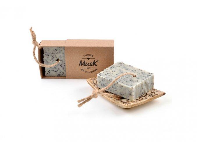 musk prirodni peelingove mydlo makovicka