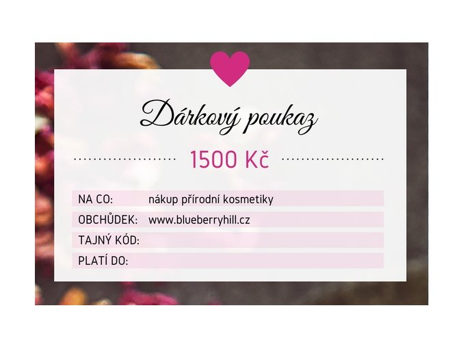darkovy poukaz 1500 kc