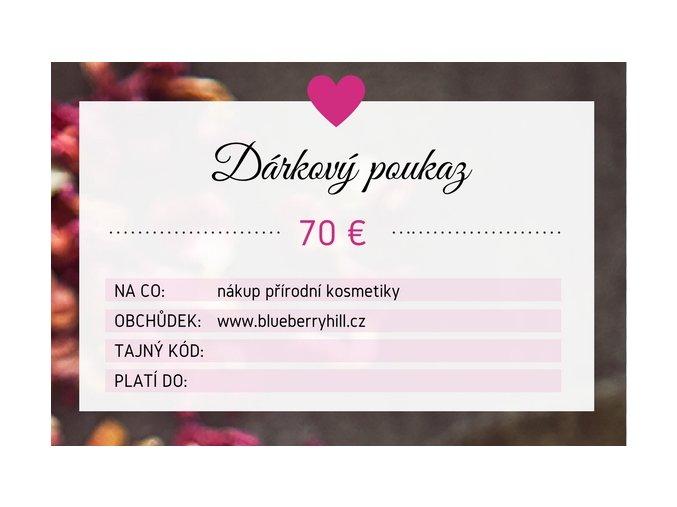 darkovy poukaz 70 eur