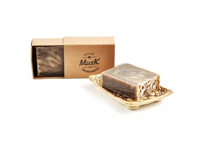 musk prirodni mydlo zrnko kavy