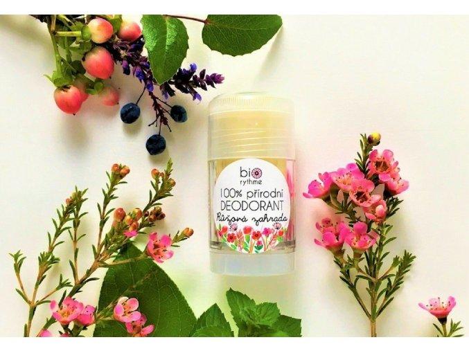 biorythme prirodni deodorant ruzova zahrada