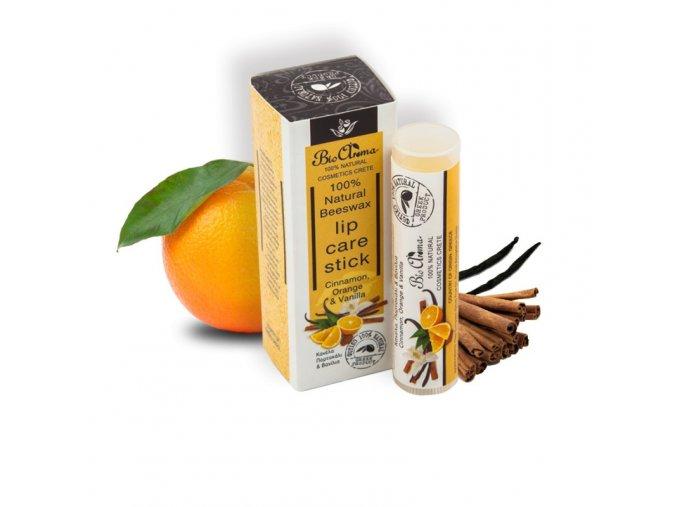 bioaroma balzam na rty s pomerancem vanilkou a skorici