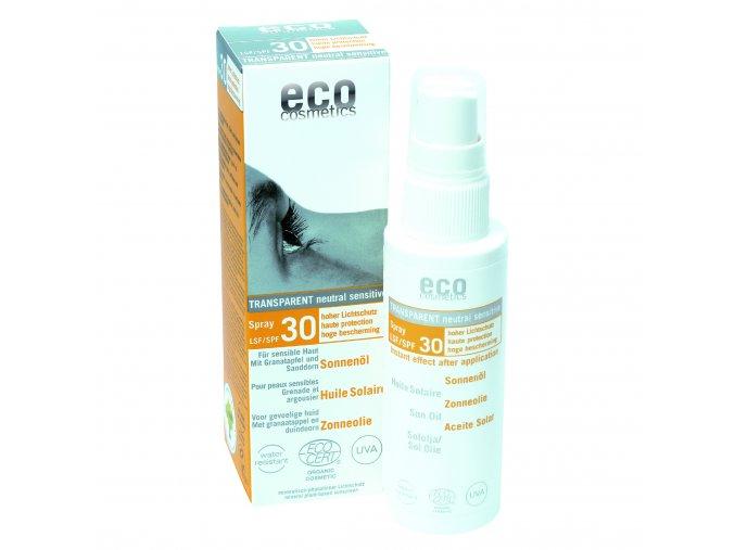 eco cosmetics opalovaci olej ve spreji spf 30 bio