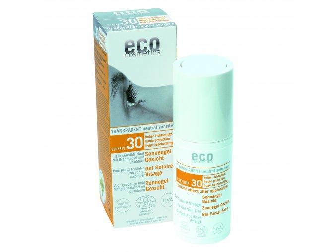 eco cosmetics opalovaci transparentni gel na oblicej spf 30