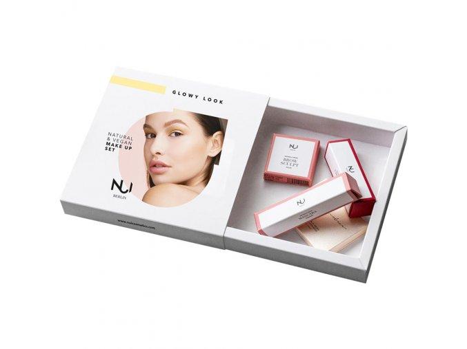 nui cosmetics make up set glowy look